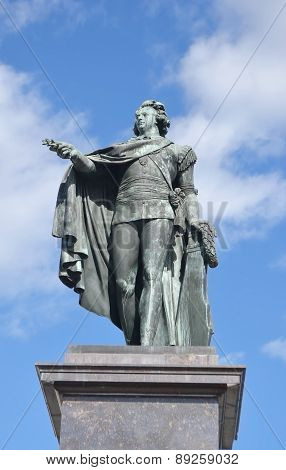 Bronze Statue Of The King Gustaf 3.