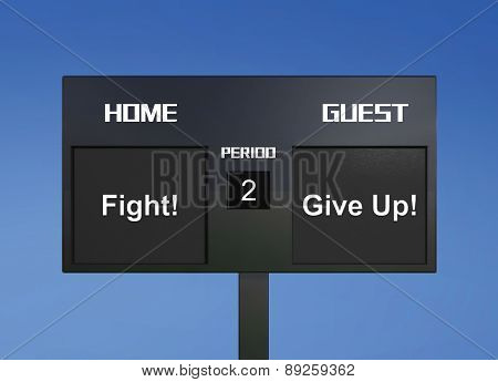 Fight Give Up Scoreboard