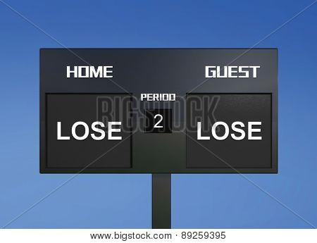 Lose Lose Scoreboard