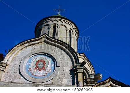 Saved On The Mural.the Church In Russia.
