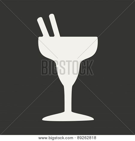 Flat in black and white mobile application cocktail