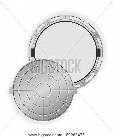 Open Manhole Vector Illustration