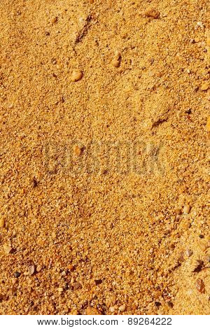 Yellow Sand With Small Stones