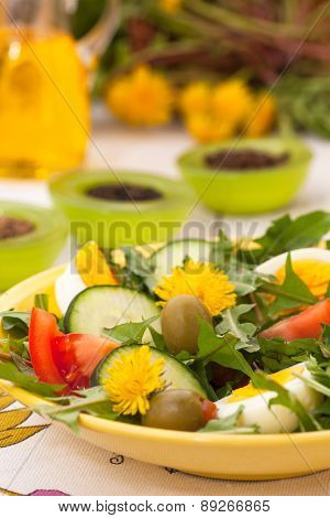 Dandelion summer salad