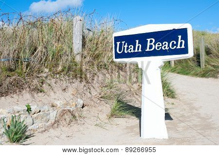 Utah Beach Is One Of The Five Landing Beaches In The Normandy Landings On 6 June 1944, During World