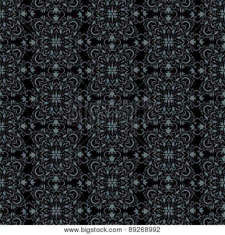 seamless dark vintage wallpaper. retro vector background