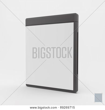 Blank DVD-case or CD-case. Can be used for advertising, marketing and presentation. 3d vector illustration.