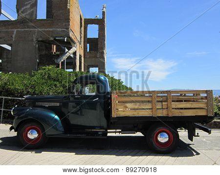 Vintage truck at Alcatraz