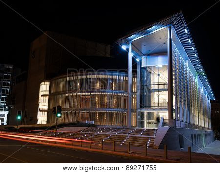 Modern Glass Building Of The Theatrical Organization Of Cyprus, Nicosia