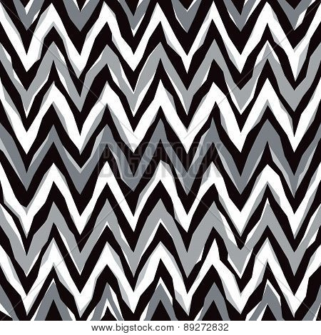 Abstract Zigzag Pattern in Grey
