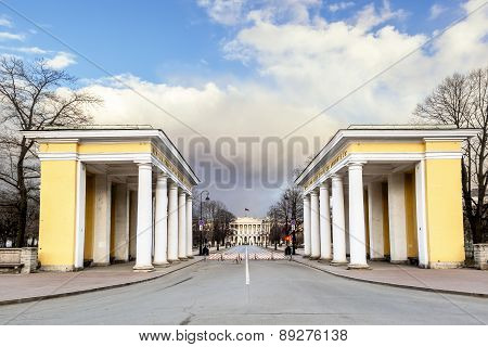 March 22, 2015. Saint-petersburg Russia Residence. The Governor Of St. Petersburg, Smolny.