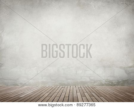 Grunge Background Wallpaper Wood Floor Concrete Concept
