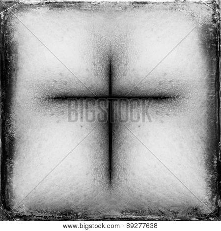 vintage cross silhouette