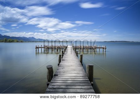 Jetty at lake
