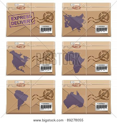 Vector Parcel Icons