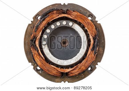 Engine Compressor Chiller, Isolated On White Background