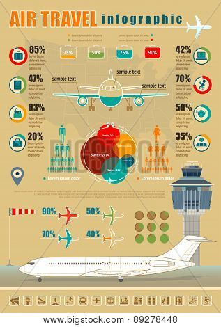 Air Travel Infographic.