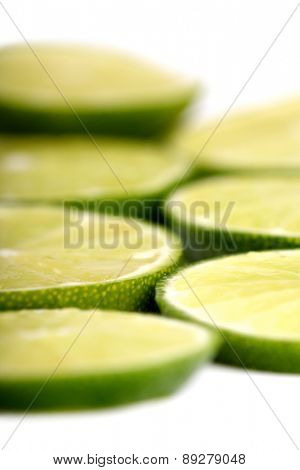 Limon on white background - close-up