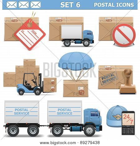 Vector Postal Icons Set 6