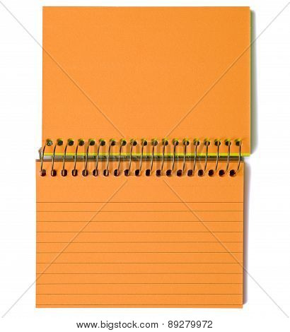 Blank Index Cards Spiral Bound Orange