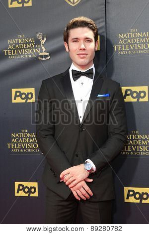 BURBANK - APR 26: Kristos Andrews at the 42nd Daytime Emmy Awards Gala at Warner Bros. Studio on April 26, 2015 in Burbank, California