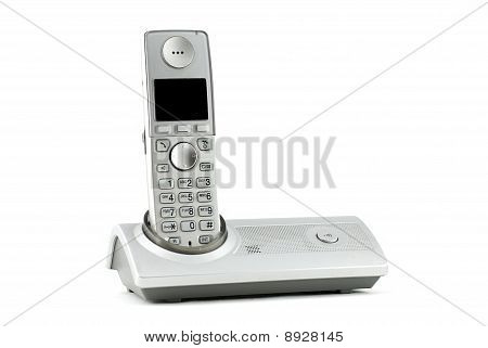 Digital VoIP phone, isolated on white background