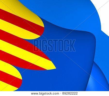 Flag Of Miedes De Aragon, Spain.