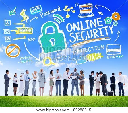 Online Security Protection Internet Safety Business Communication Concept