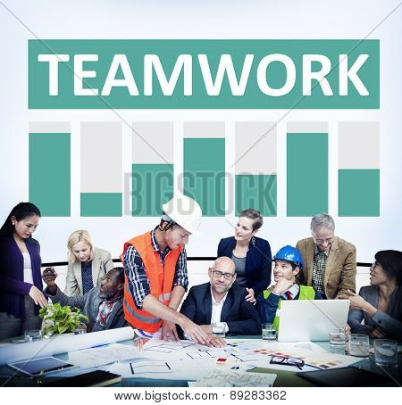 Teamwork Corporate Support Member Organization Concept