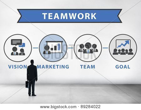 Businessman Planning Vision Strategy Connection Teamwork Concept