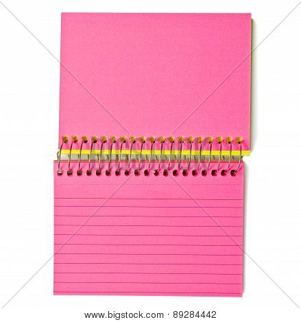 Blank Index Cards Spiral Bound Pink