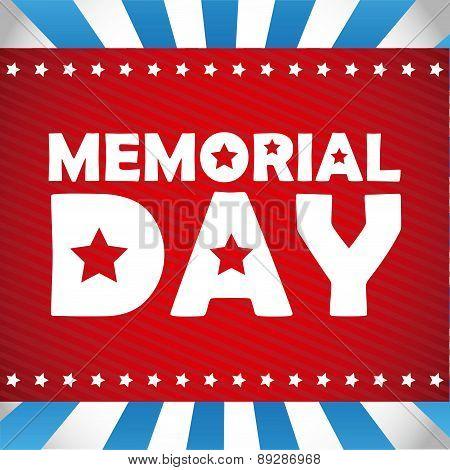 Memorial Day design vector illustration