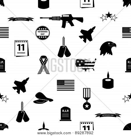 Veterans Day Celebration symbols pattern