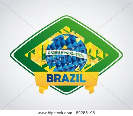 Brazil design over white background vector illustration