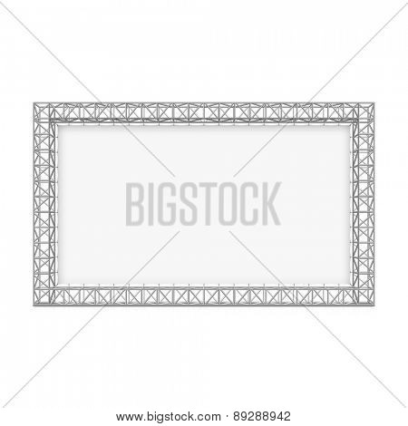 Blank advertising outdoor banner on truss system. Vector.