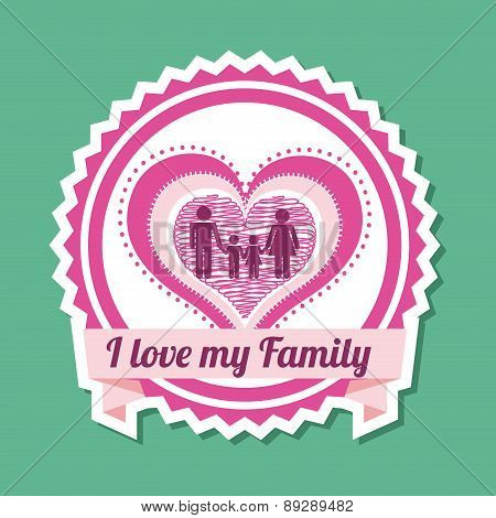 Family design over green background vector illustration