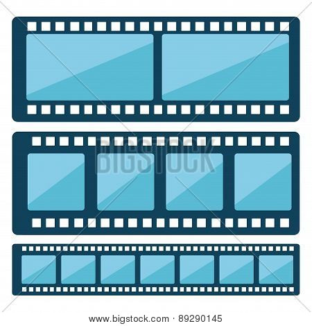 Film design over white background vector illustration