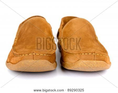 Male fashion shoes isolated