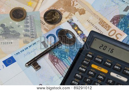 Money And Calculator And Key In Year 2016