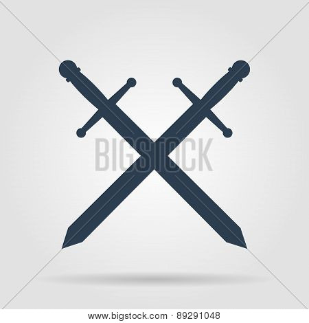 Sword Icon Vector Beautiful