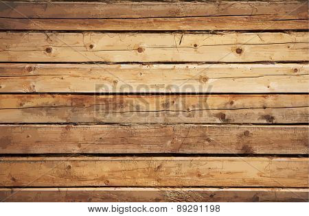 old wooden wall, vector