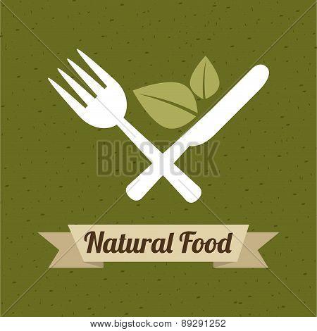 Organic food design over green background vector illustration