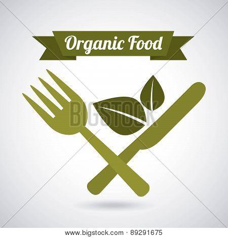 Organic food design over gray background vector illustration