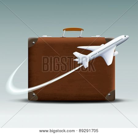 Vector white plane