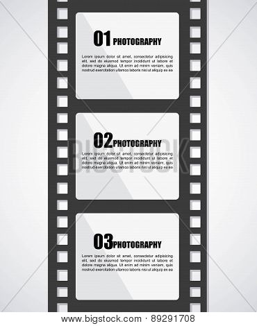 Film design over gray background vector illustration