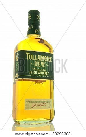 Tullamore Dew whiskey isolated on white background