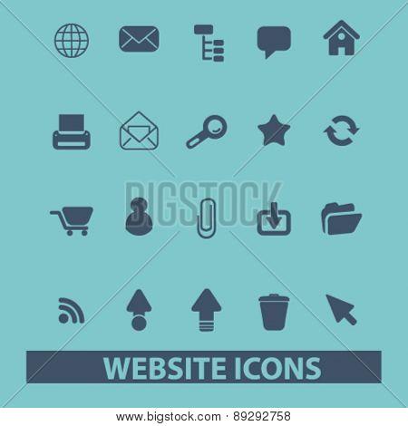 website, internet isolated icons, signs, illustrations website, internet mobile design concept set, vector