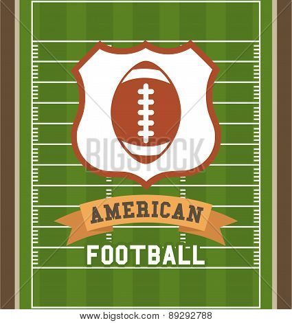 American football design over green pitch background vector illu