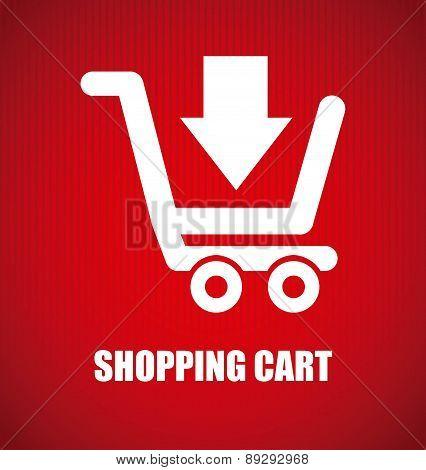 Shopping design over red background vector illustration-