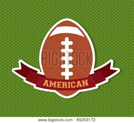 American football design over green dotted background vector ill